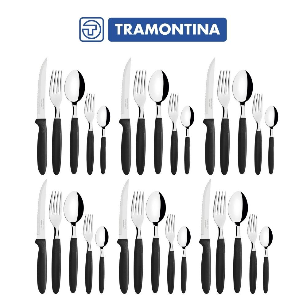 Faqueiro 30 peças Tramontina Ipanema Preto Conj. de Talheres