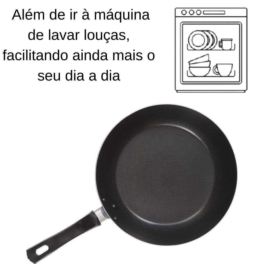 FRIGIDEIRA EM ALUMÍNIO ANTIADERENTE STARFLON MAX E EXTERNO EM SILICONE ESTAMPADO SALMÃO 24 CM
