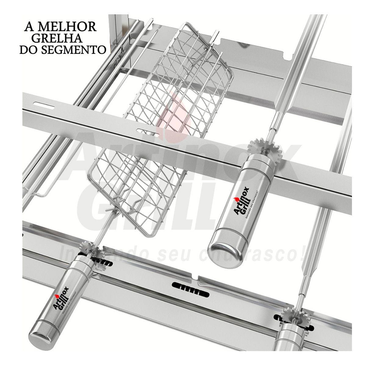 GRELHA GIRATORIA CONCOVA PARA PEIXES 65cm Cabo Aluminio