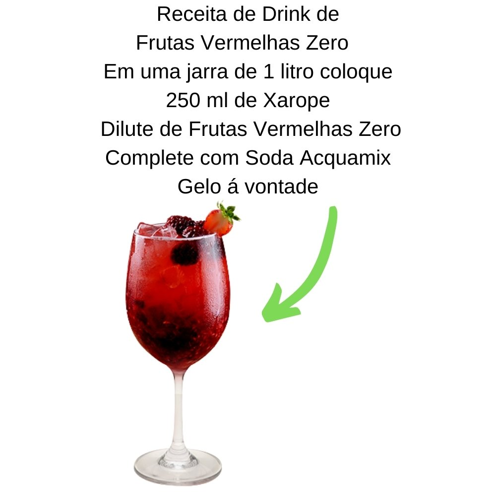 Kit 1 ACQUAMIX 1500ML + 1 DILUTE FRUTAS VERMELHAS ZERO 500ML