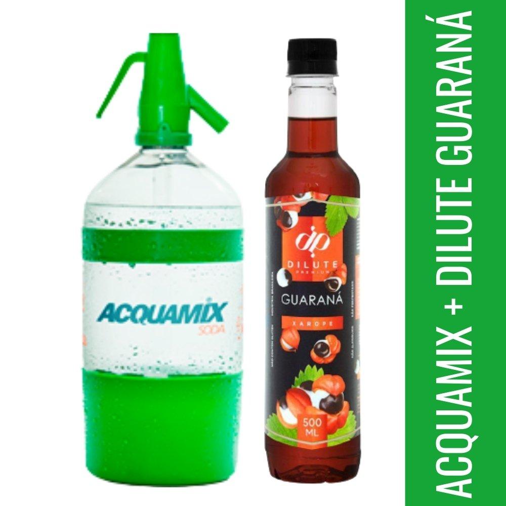 Kit 1 ACQUAMIX 1500ML + 1 DILUTE GUARANÁ 500ML