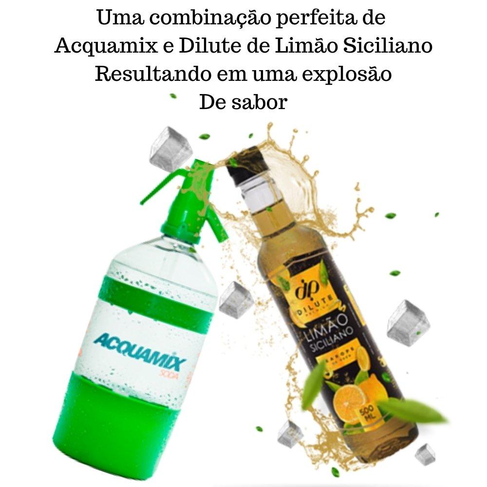 Kit 1 ACQUAMIX 1500ML + 1 DILUTE LIMÃO SICILIANO 500ML