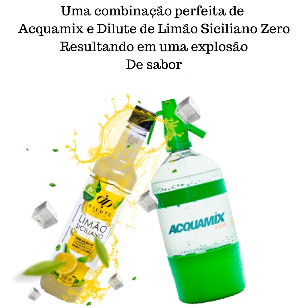 Kit 1 ACQUAMIX 1500ML + 1 DILUTE LIMÃO SICILIANO ZERO 500ML