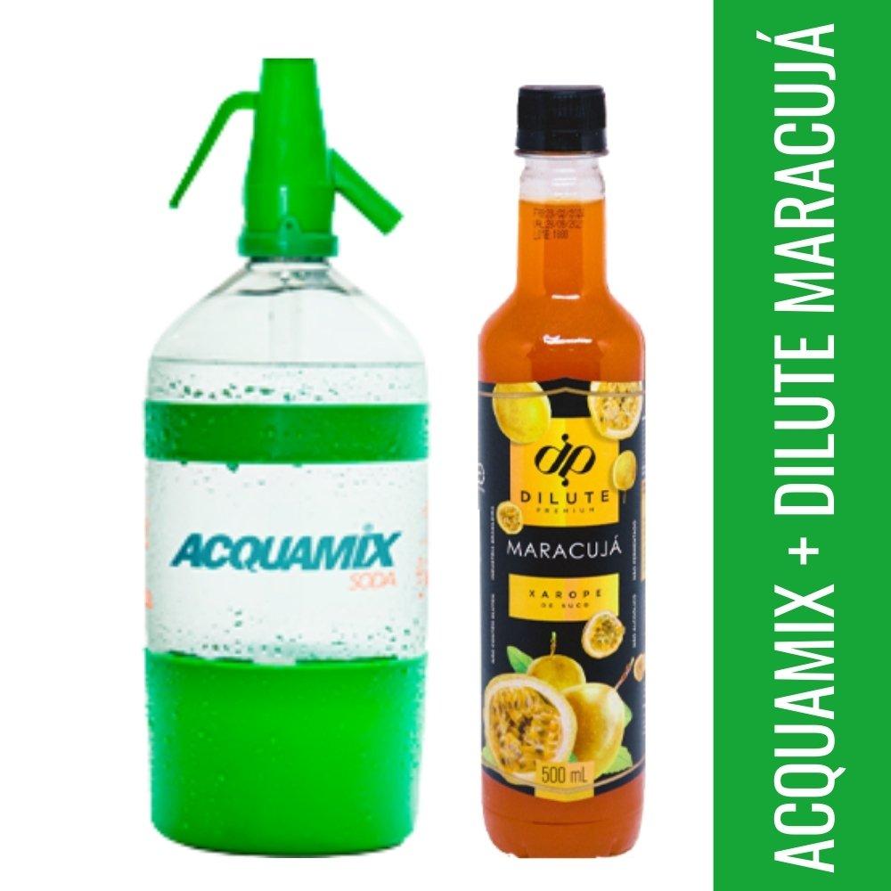 Kit 1 ACQUAMIX 1500ML + 1 DILUTE MARACUJÁ 500ML