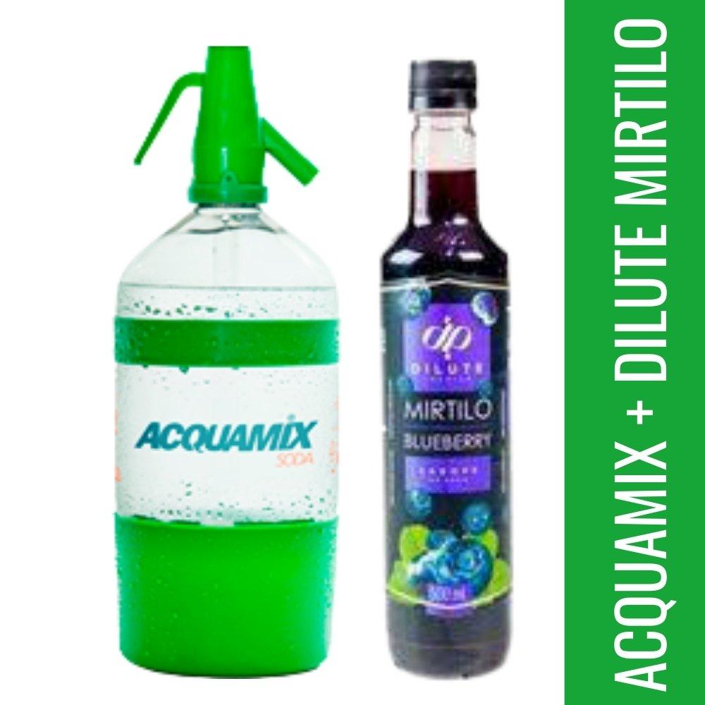 Kit 1 ACQUAMIX 1500ML + 1 DILUTE  MIRTILO 500ML