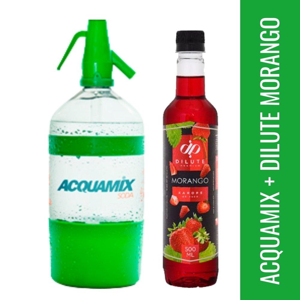 Kit 1 ACQUAMIX 1500ML + 1 DILUTE MORANGO 500ML