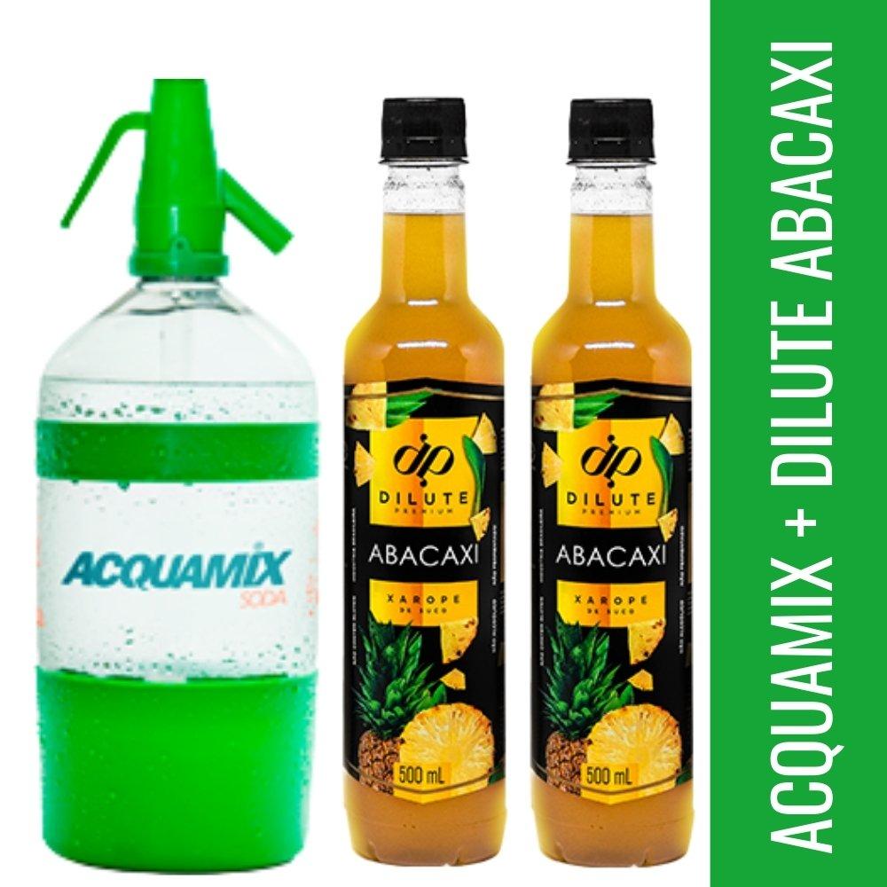 Kit 1 ACQUAMIX 1500ML + 2 DILUTE ABACAXI 500ML