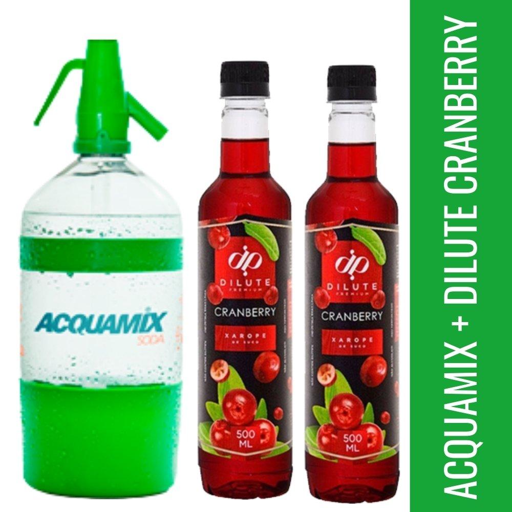 Kit 1 ACQUAMIX 1500ML + 2 DILUTE CRANBERRY 500ML