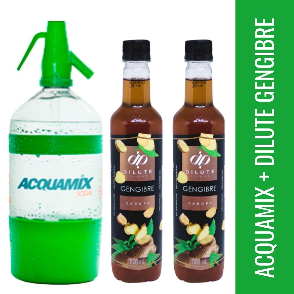 Kit 1 ACQUAMIX 1500ML + 2 DILUTE GENGIBRE 500ML