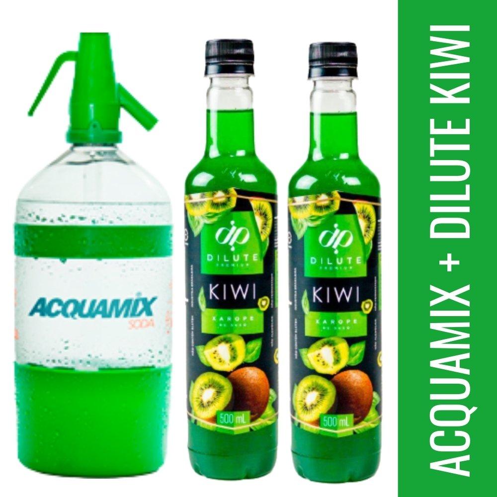 Kit 1 ACQUAMIX 1500ML + 2 DILUTE KIWI 500ML