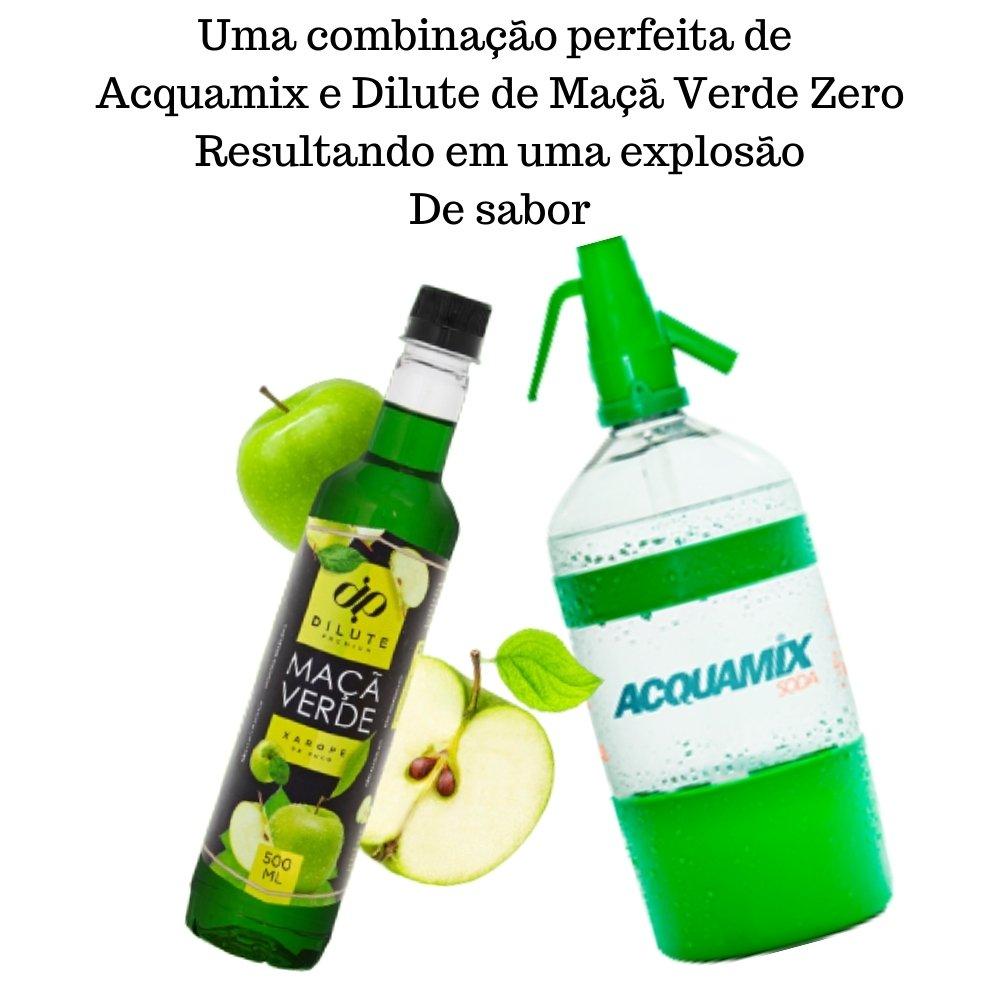 Kit 1 ACQUAMIX 1500ML + 2 DILUTE MAÇÃ VERDE ZERO 500ML