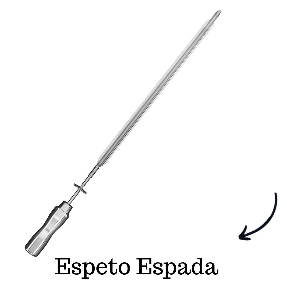Espeto Espada Inox 65CM Cabo Em Aluminio