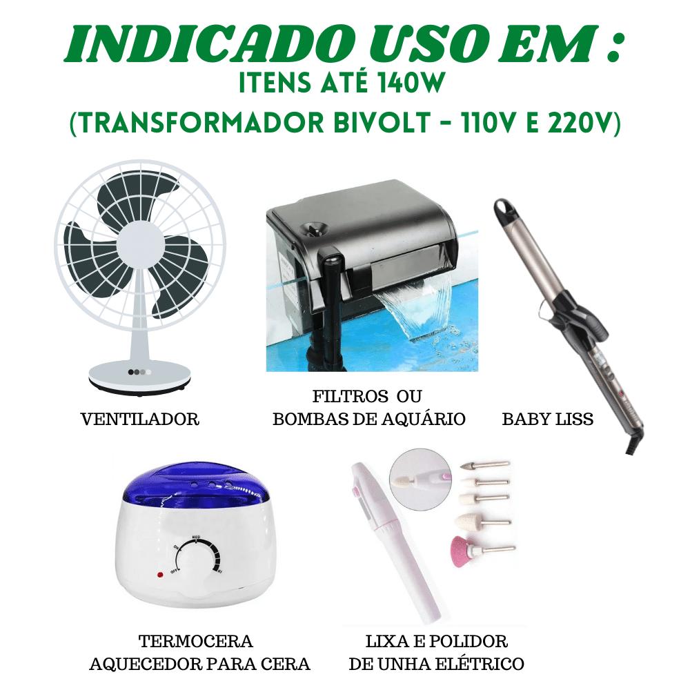 KIT 2 Auto Transformador 110v 220v 140w 200va Sylc