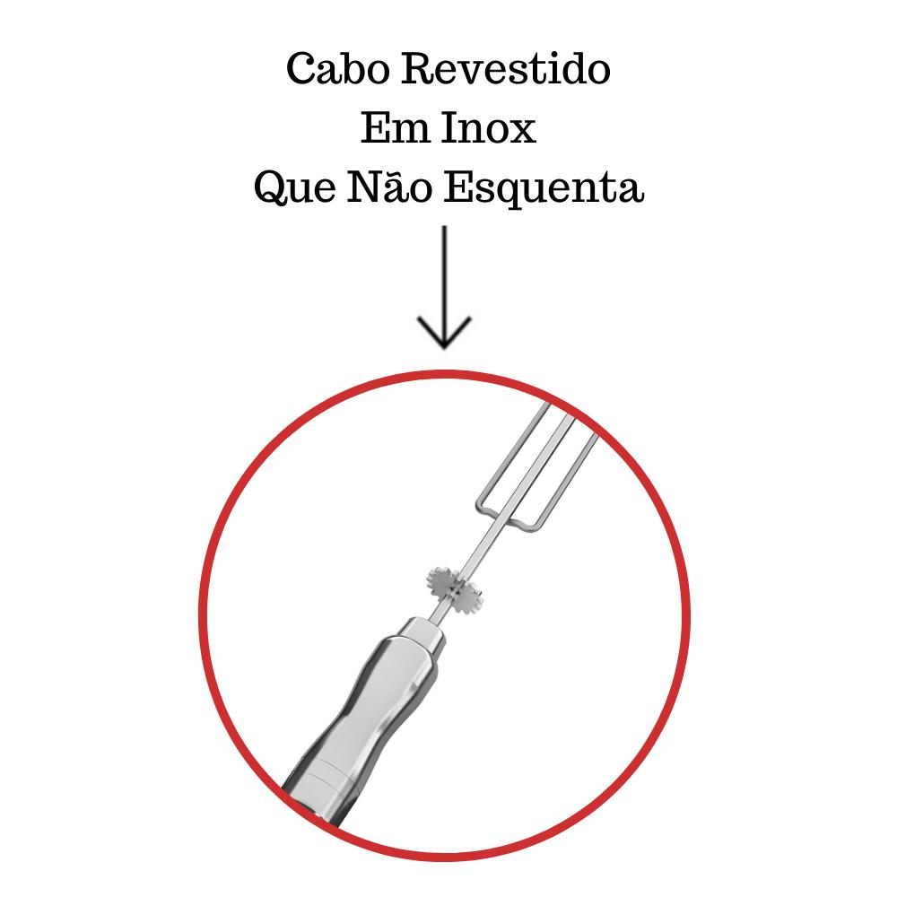 Kit 2 Espadas + 3 Tridentes Inox Cabo Alumínio