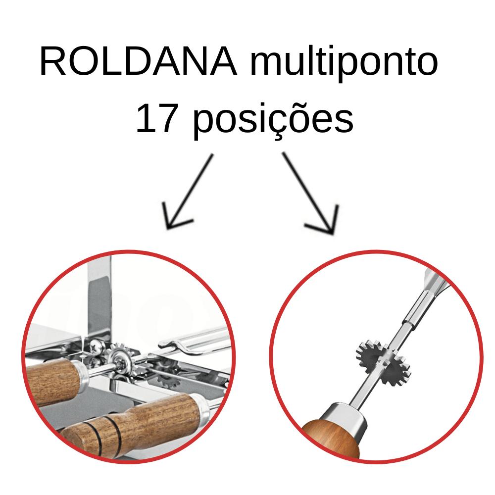 Kit 2 Espadas + 3 Tridentes Inox Cabo Madeira