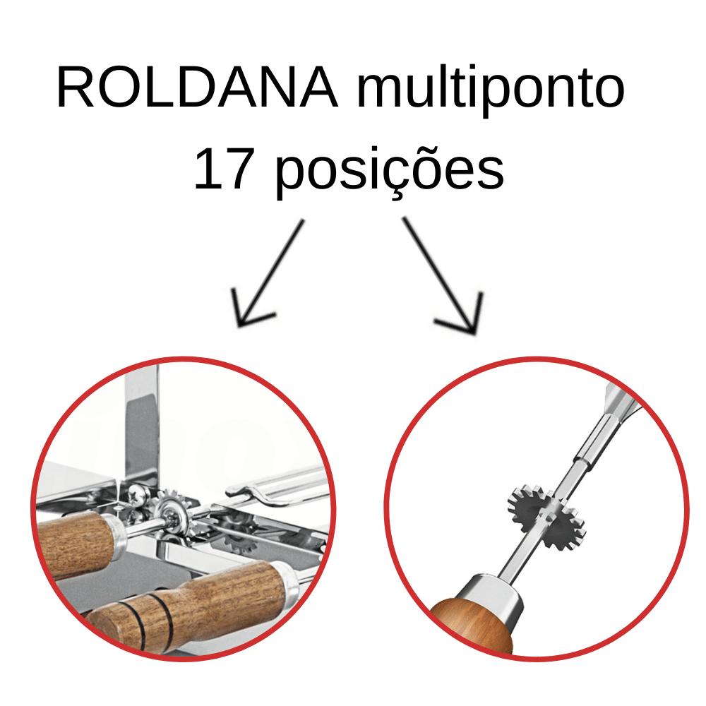 kit 2 Espeto Espada Inox 65CM Cabo Em Madeira
