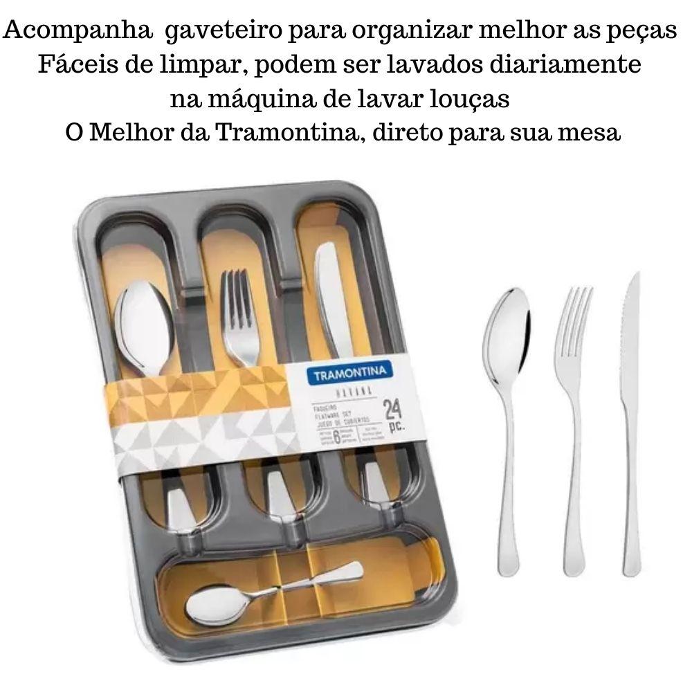 KIT 2 FAQUEIROS TRAMONTINA HAVANA PARA CHURRASCO EM AÇO INOX LISO 50 PEÇAS