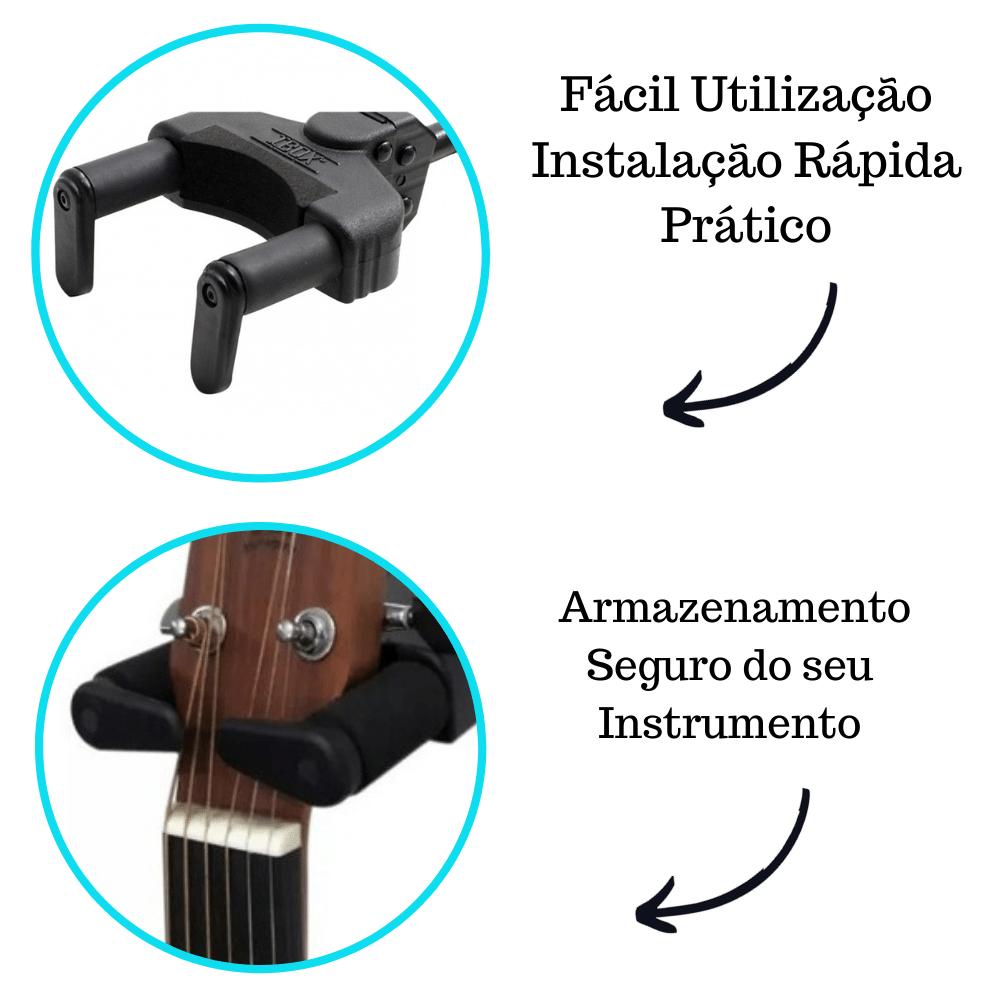 Kit 2 Suportes De Violão E Guitarra Automático Modelo AGS