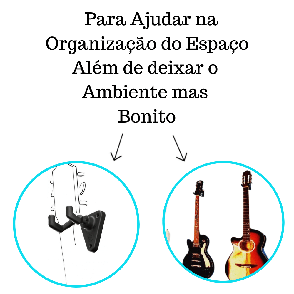 Kit 2 Suportes De Violão E Guitarra Modelo SPF