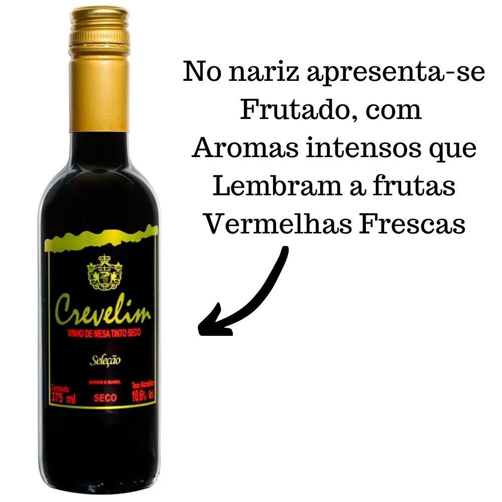 Kit 2 Vinho De Mesa Crevelim Tinto Seco 375ml