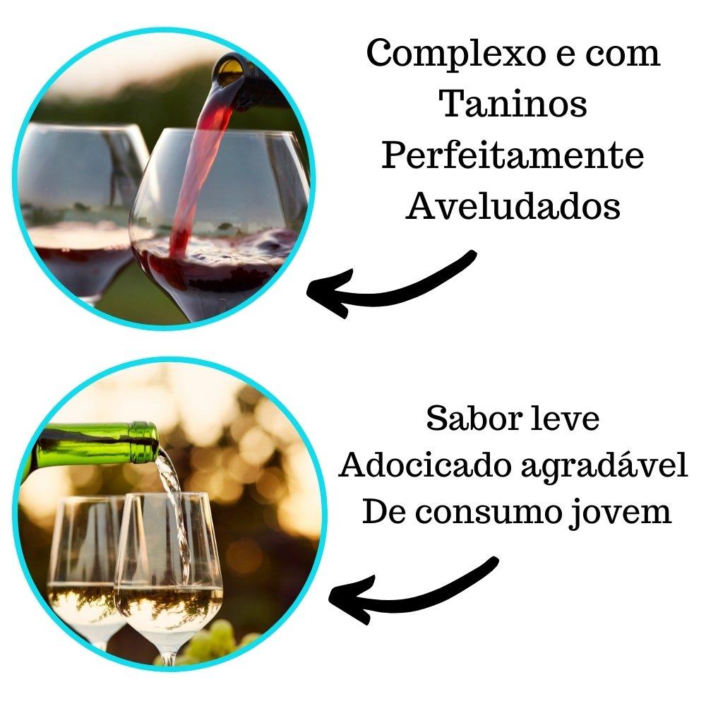 Kit 2  Vinhos De Mesa Crevelim 1 tinto suave e 1 branco Suave Niágara 750ml
