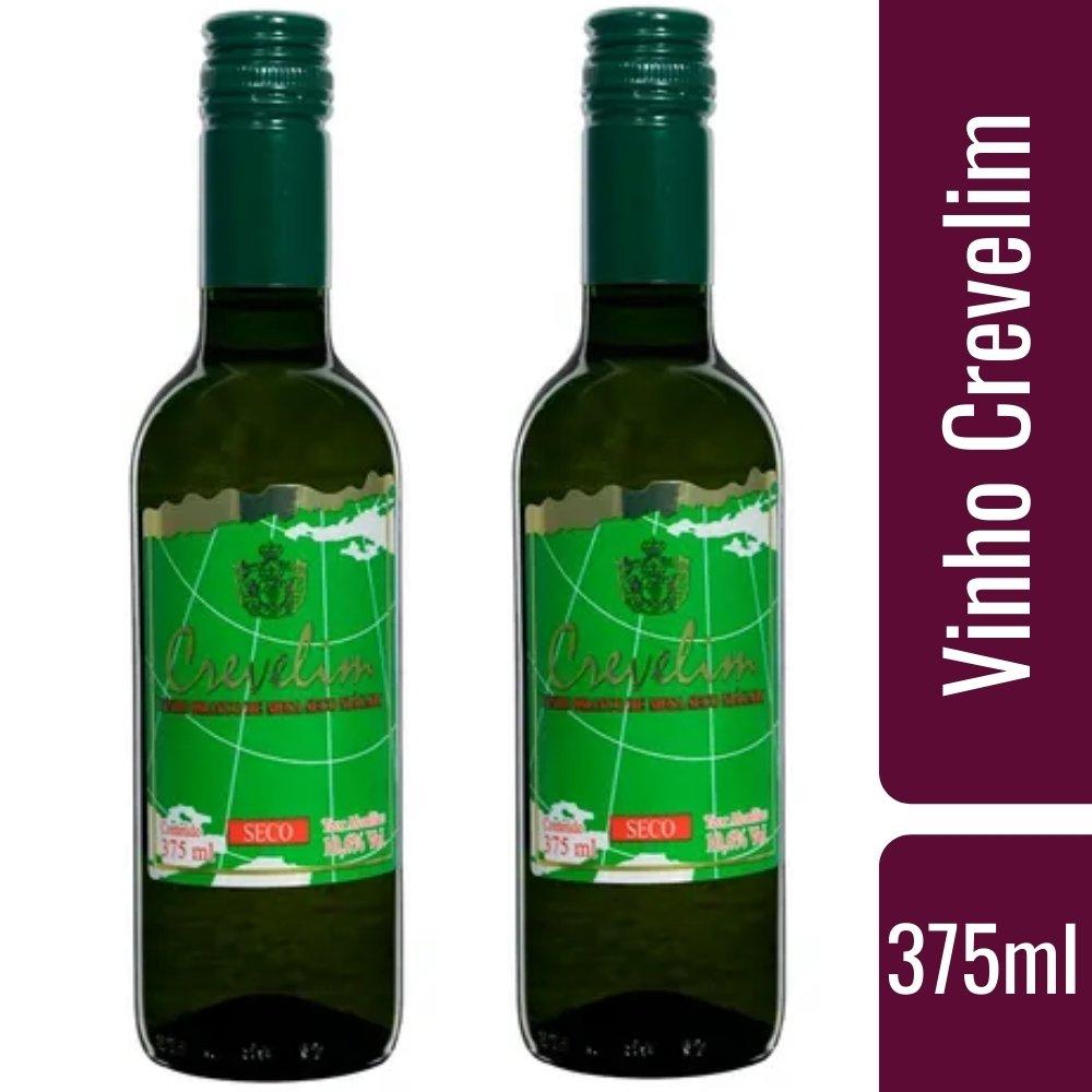 Kit 2 Vinhos De Mesa Crevelim Branco Seco Niágara 375ml