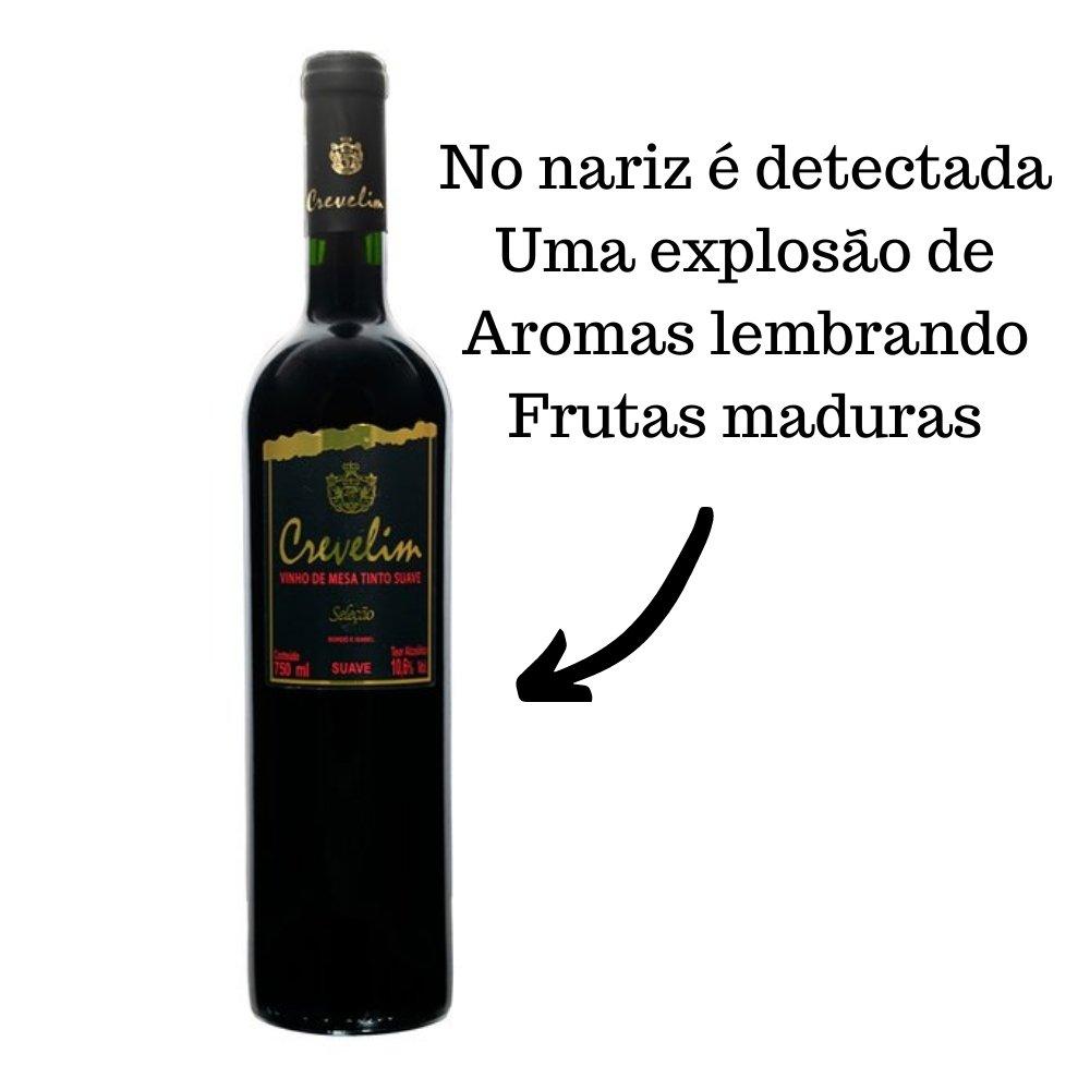 Kit 2 Vinhos De Mesa Crevelim Tinto Suave 750ml
