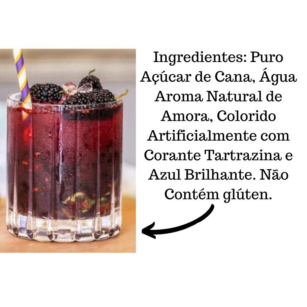 Kit 2 XAROPES DILUTE PREMIUM DRINKS E DOCES 500ML Amora