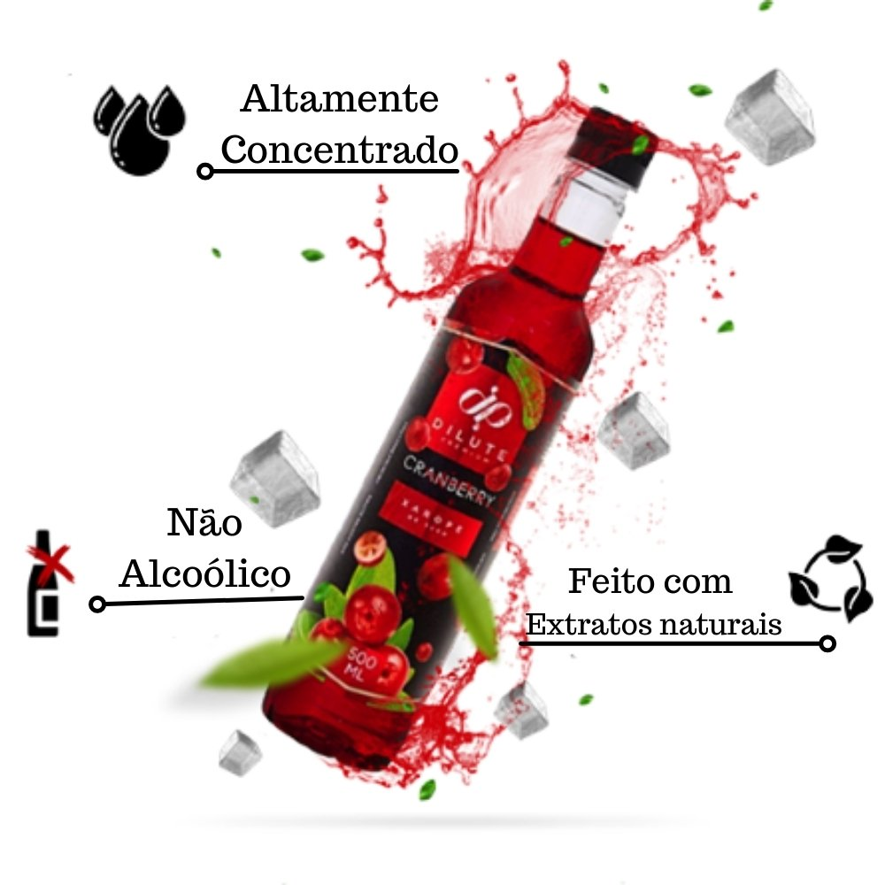kIT 2 XAROPES DILUTE PREMIUM DRINKS E DOCES 500ML Cranberry