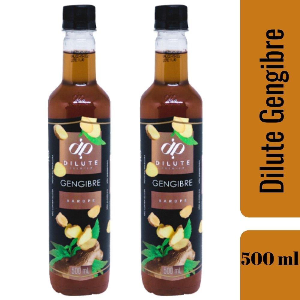 Kit 2 XAROPES DILUTE PREMIUM DRINKS E DOCES 500ML Gengibre