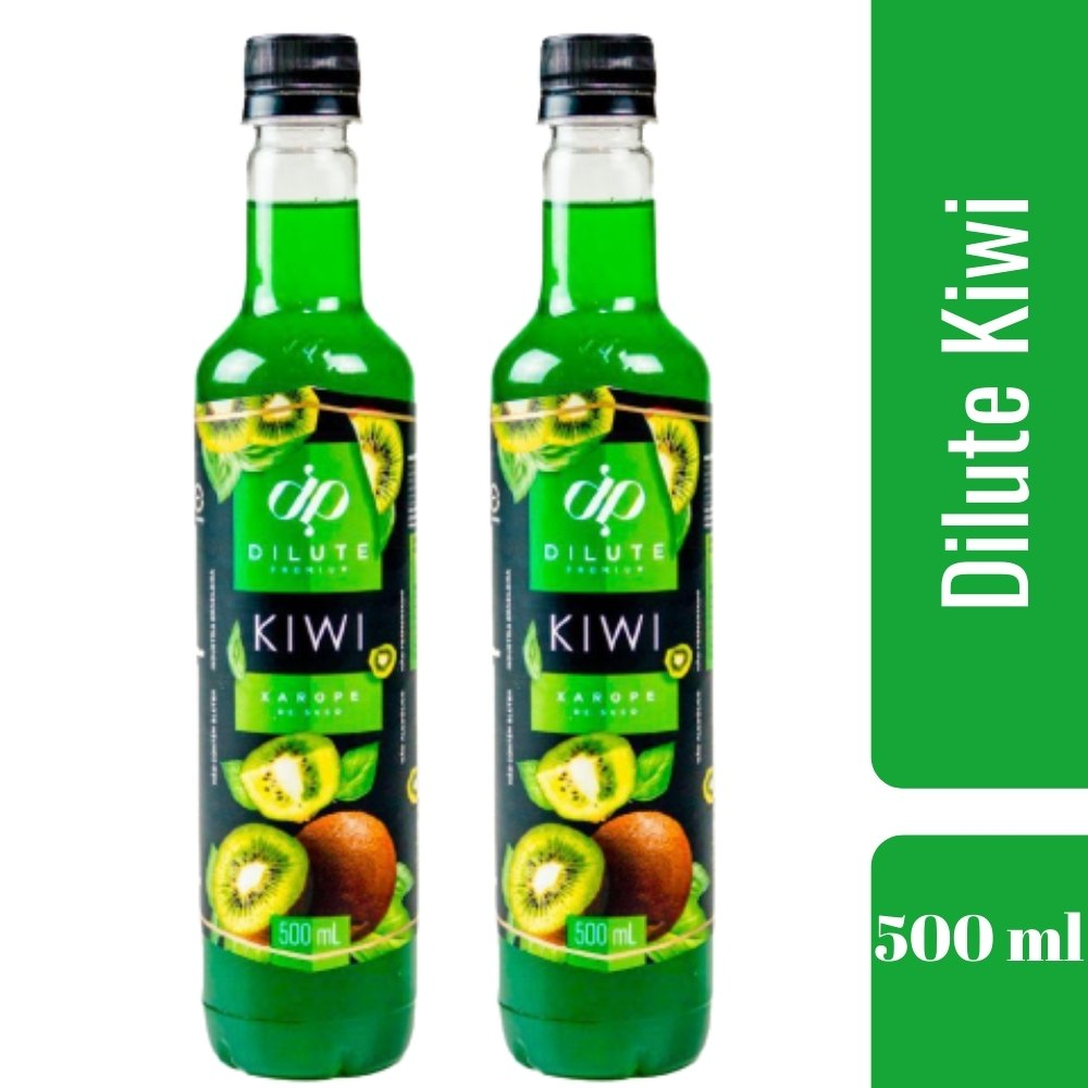 Kit 2 XAROPES DILUTE PREMIUM DRINKS E DOCES 500ML Kiwi