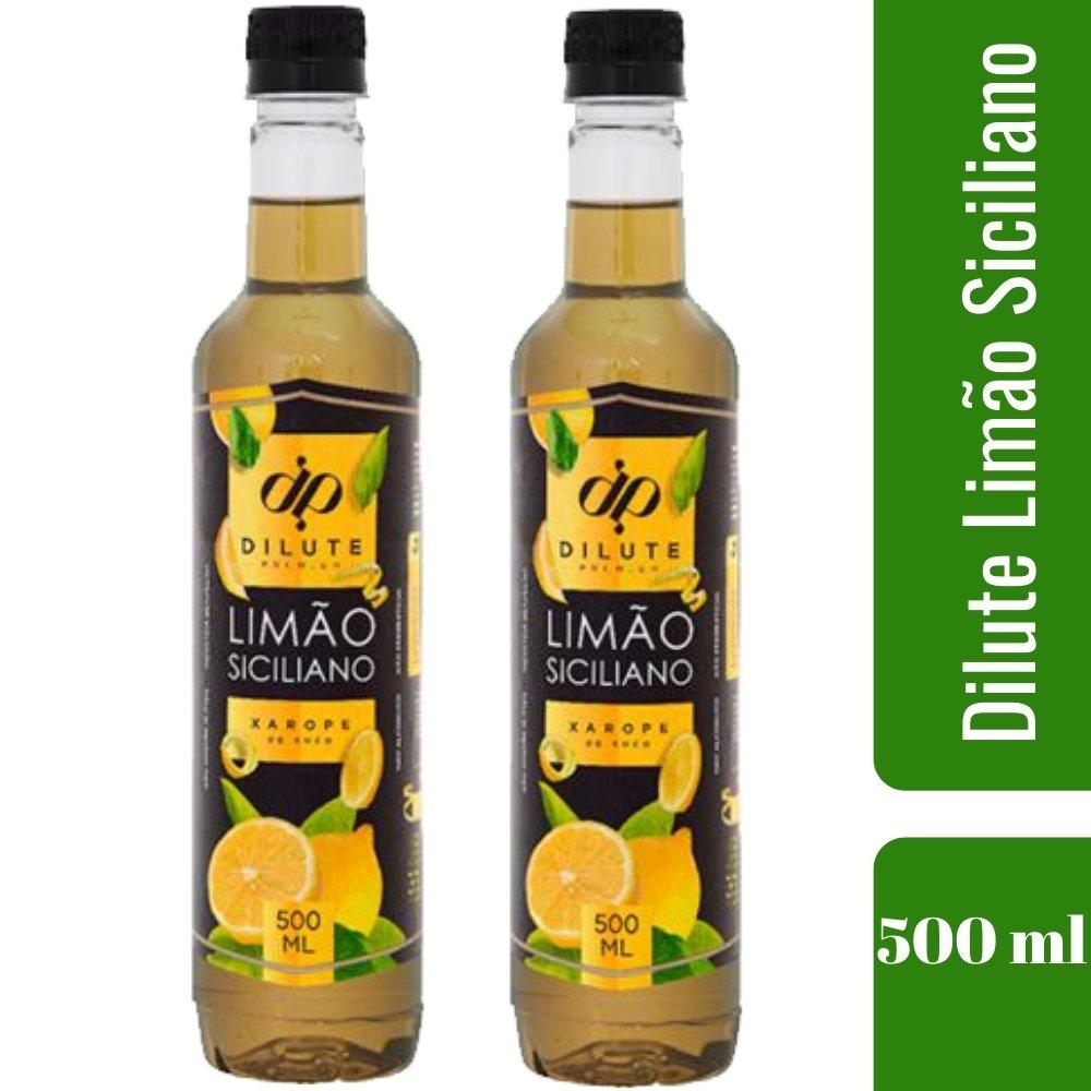 Kit 2 XAROPES DILUTE PREMIUM DRINKS E DOCES 500ML Limão Siciliano