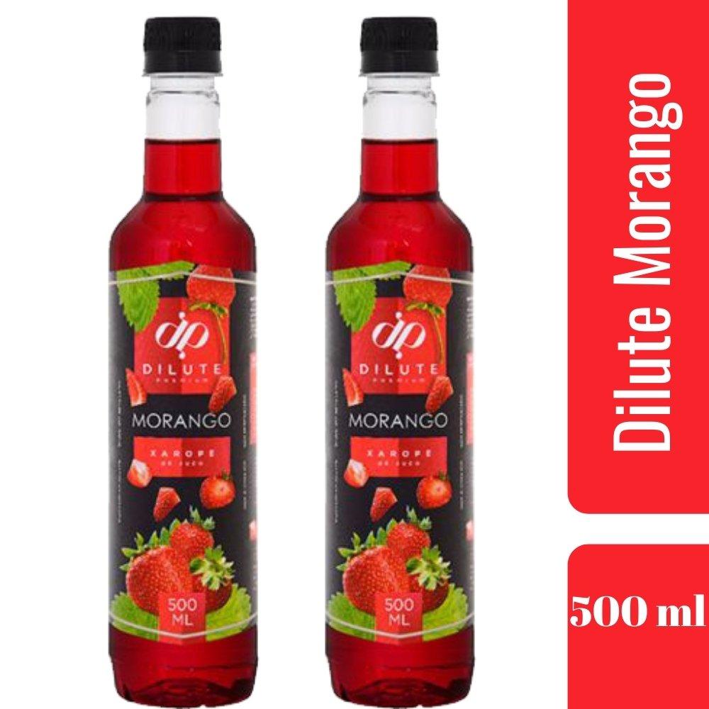 Kit 2 XAROPES DILUTE PREMIUM DRINKS E DOCES 500ML Morango