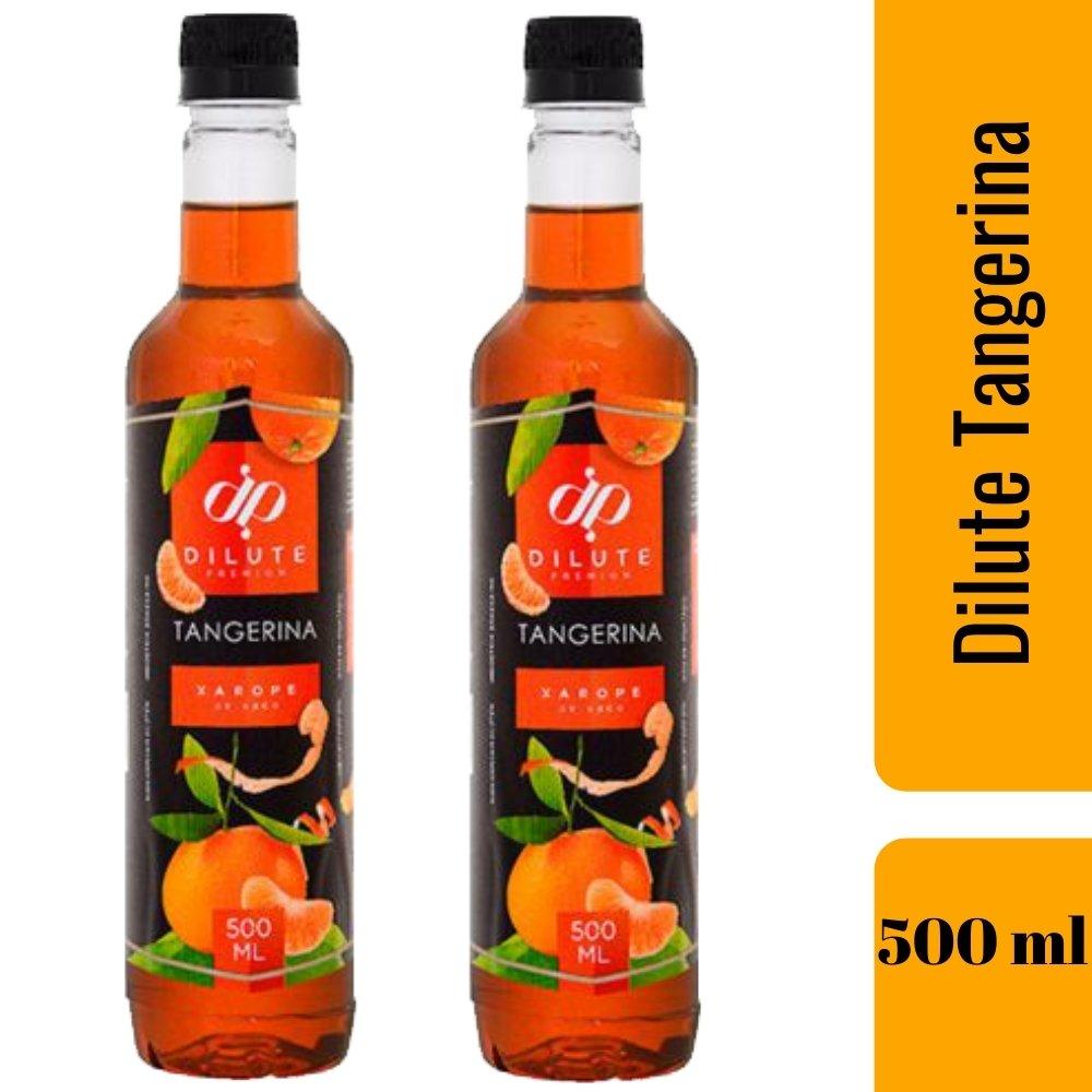 Kit 2 XAROPES DILUTE PREMIUM DRINKS E DOCES 500ML Tangerina