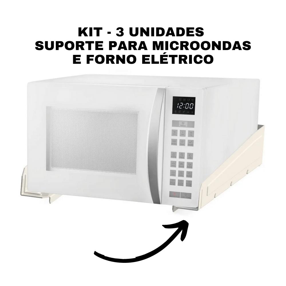 Kit 3 SUPORTES MULTIUSO PARA FORNO MICROONDAS SBR5.1