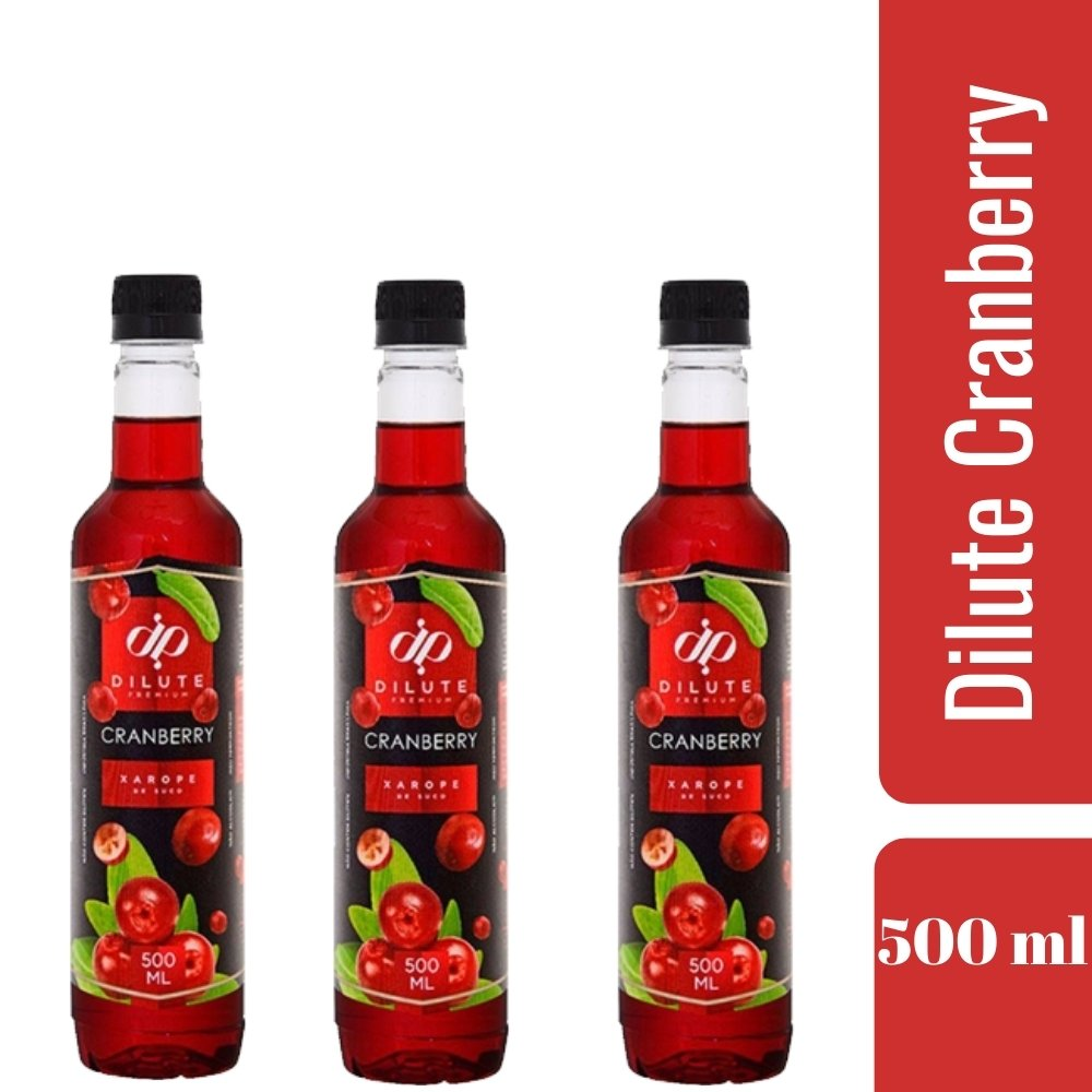 kIT 3 XAROPES DILUTE PREMIUM DRINKS E DOCES 500ML Cranberry