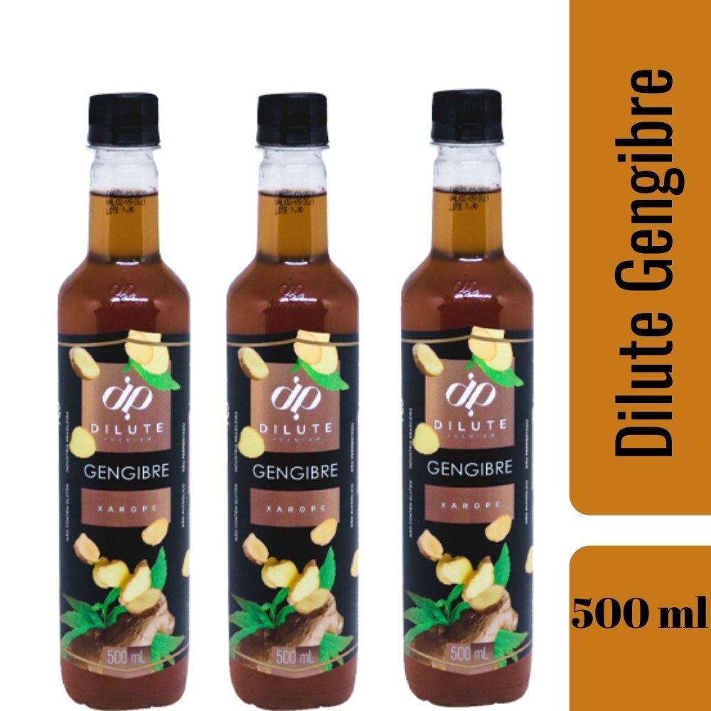 kIT 3 XAROPES DILUTE PREMIUM DRINKS E DOCES 500ML Gengibre