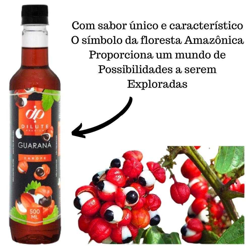 Kit 3 XAROPES DILUTE PREMIUM DRINKS E DOCES 500ML Guaraná