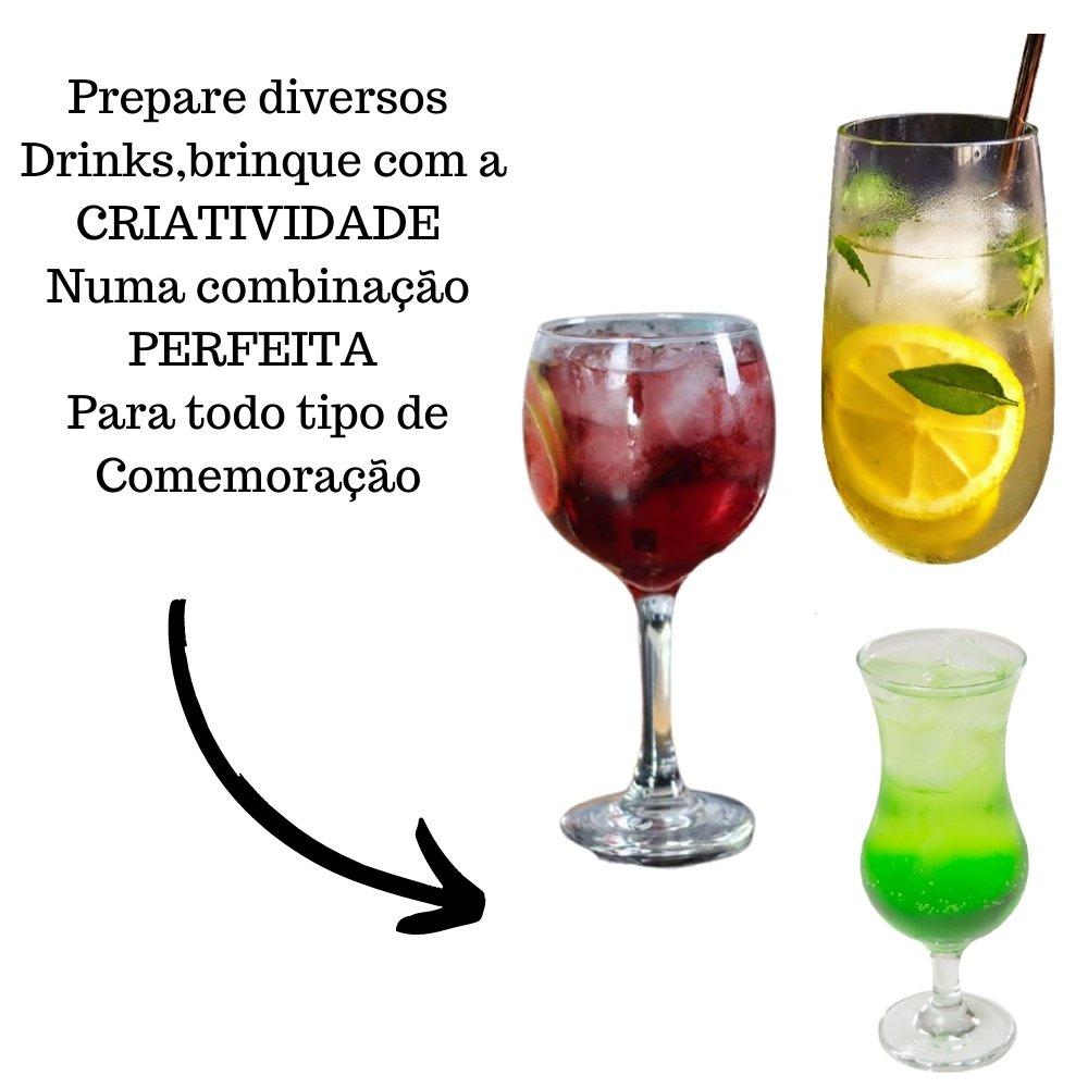 Kit 3 XAROPES DILUTE PREMIUM DRINKS E DOCES 500ML Limão Siciliano,Maçã Verde E Frutas Vermelhas Zero