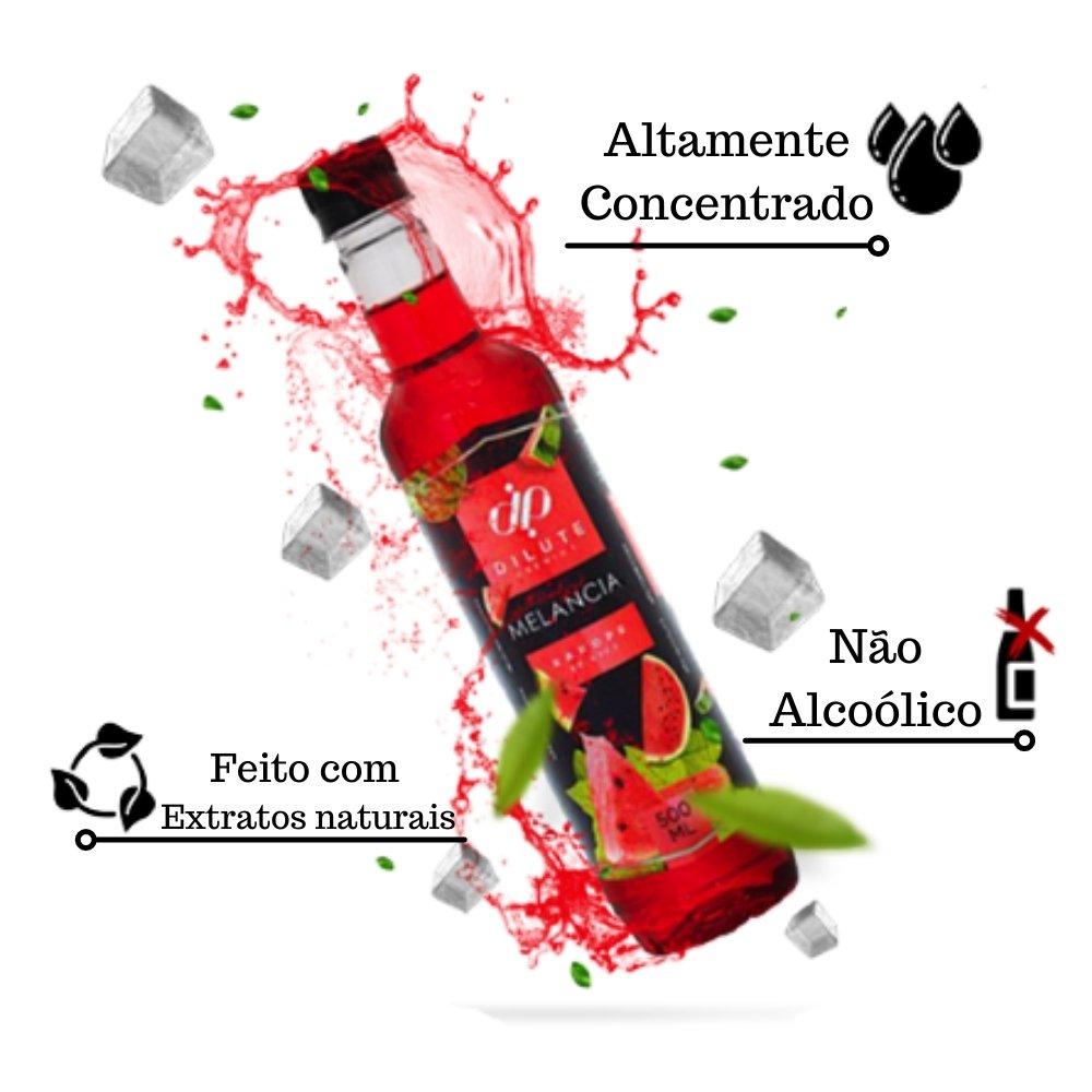 Kit 3 XAROPES DILUTE PREMIUM DRINKS E DOCES 500ML Melancia