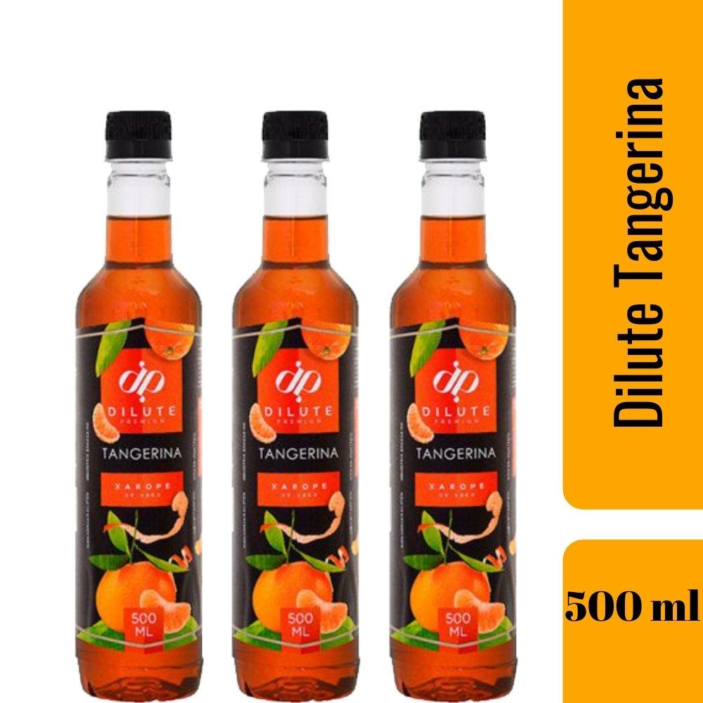 Kit 3 XAROPES DILUTE PREMIUM DRINKS E DOCES 500ML Tangerina