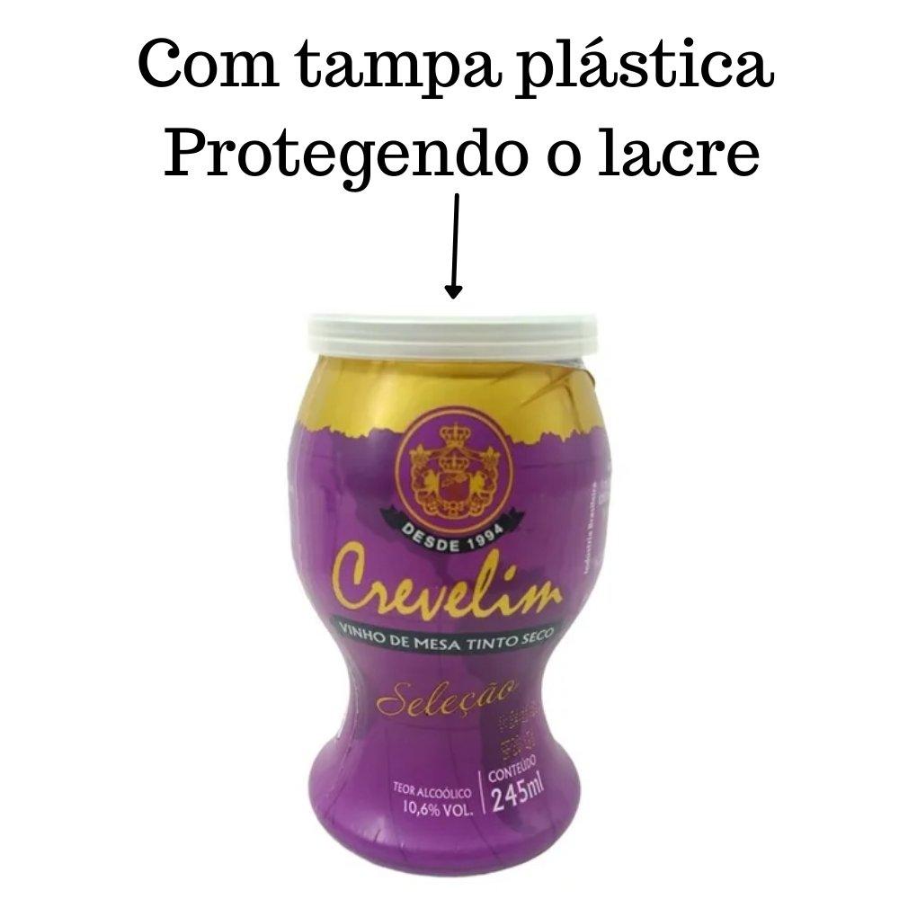 Kit 4 Mini Vinhos Crevelim tinto seco 245ml