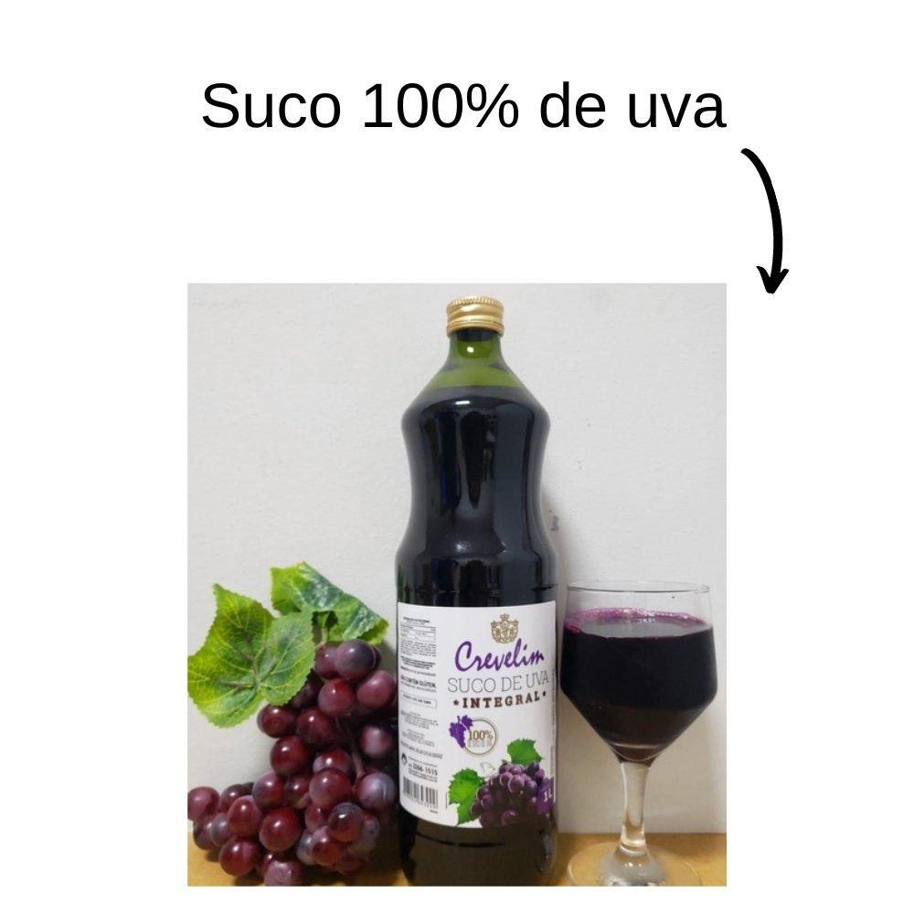 Kit 4 Sucos De Uva Integral Crevelim 1L