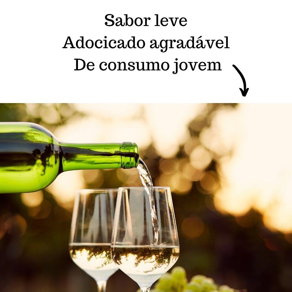 Kit 4 Vinhos De Mesa Crevelim Branco Suave Niágara 750ml