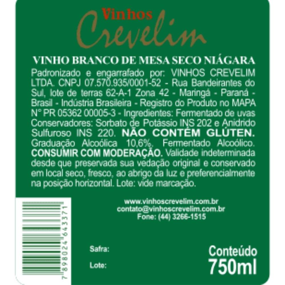 Kit 4  Vinhos De Mesa Crevelim Misto tinto e branco 750ml
