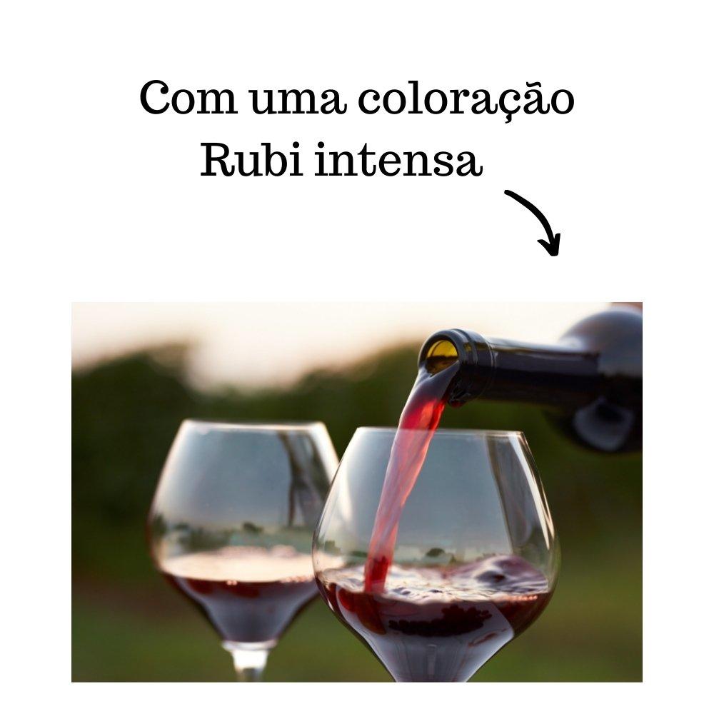 Kit 4 Vinhos De Mesa Tinto Crevelim Suave Bordô Premium 750ml