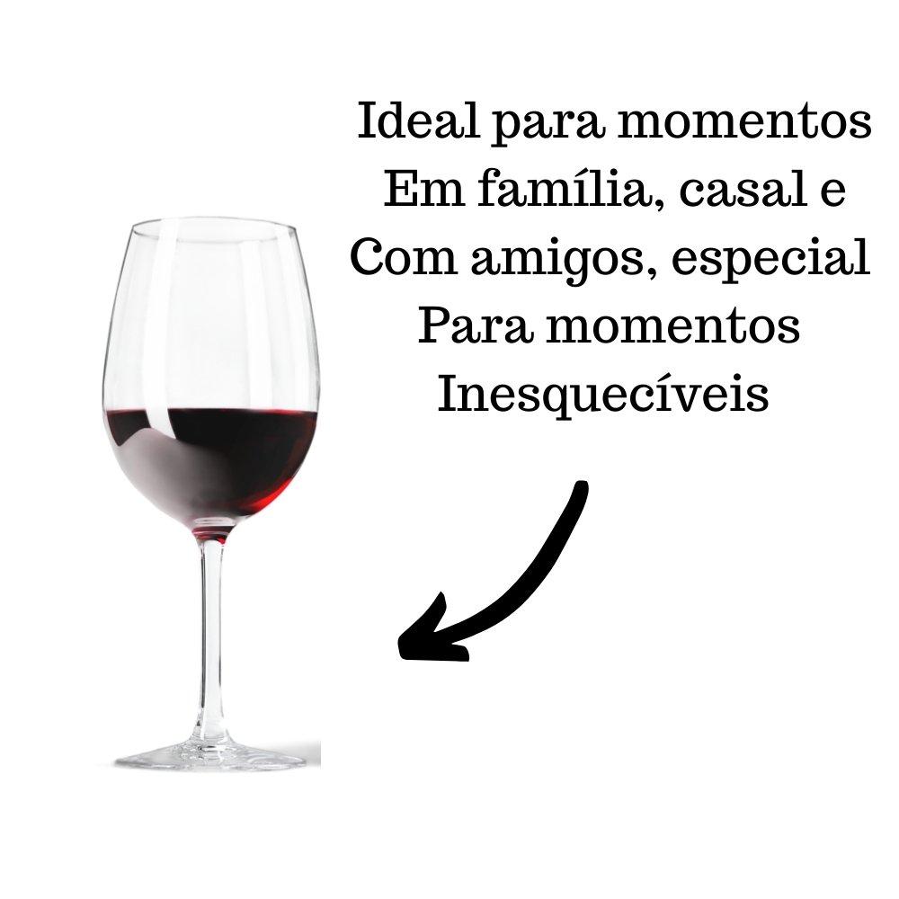 Kit 4 Vinhos Tinto Crevelim Seco Fino Merlot 750ml