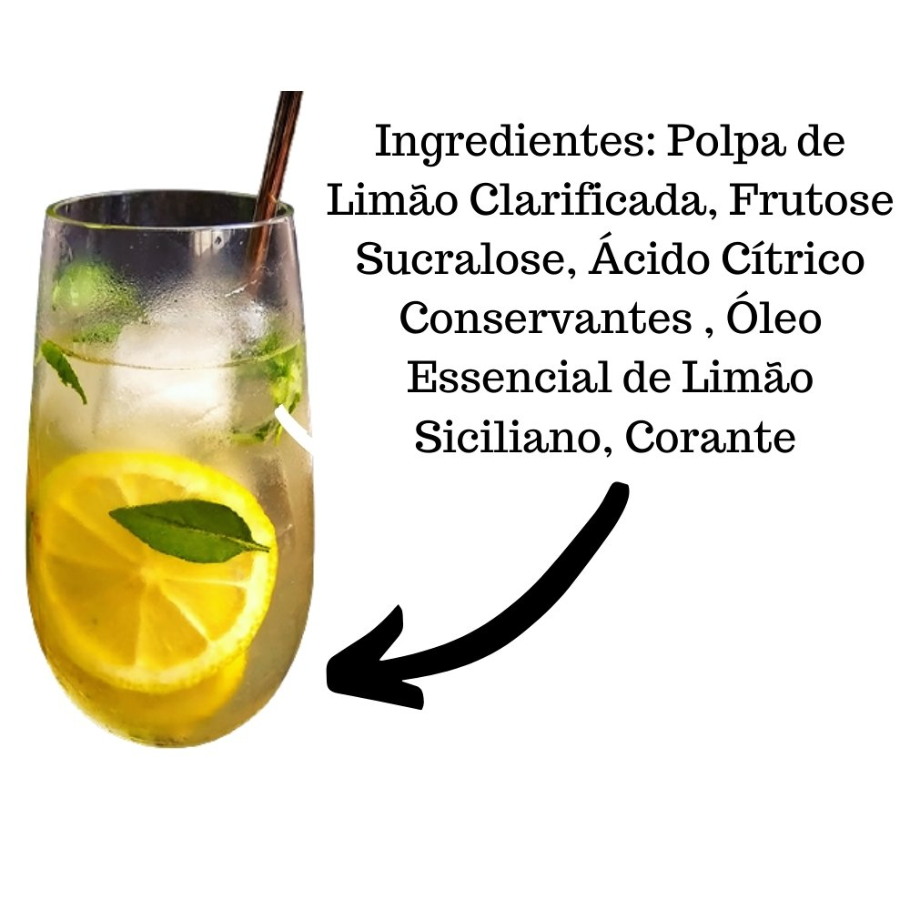 Kit 4 XAROPES  DILUTE PREMIUM DRINKS E DOCES 500ML Limão Siciliano S/Açucar
