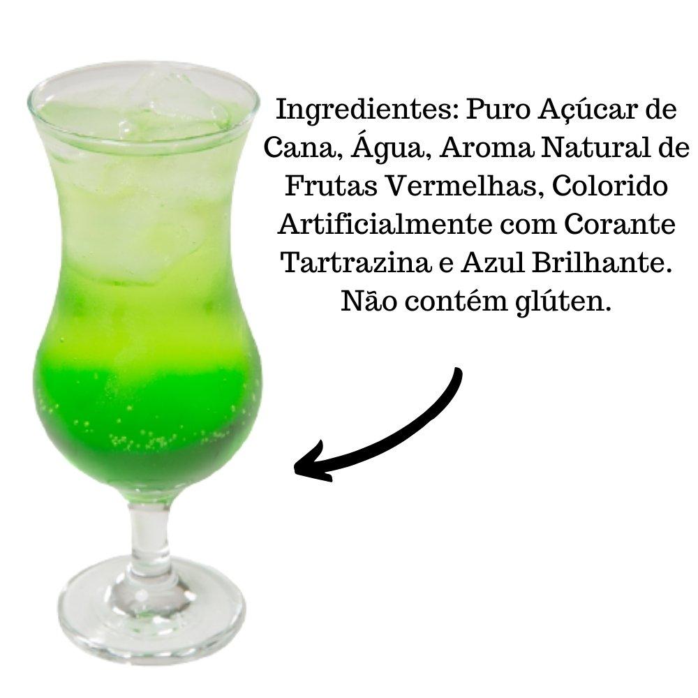 Kit 4 XAROPES DILUTE PREMIUM DRINKS E DOCES 500ML Maçã Verde