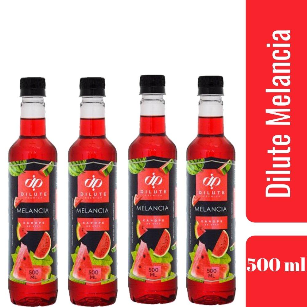 Kit 4 XAROPES DILUTE PREMIUM DRINKS E DOCES 500ML Melancia